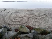 Sand Labyrinth @ Willows Beach